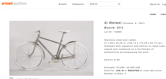 Ai Weiwei bicycle
