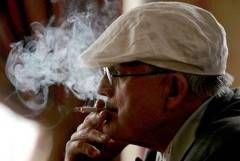 Hockney smoking