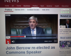 Bercow's first word