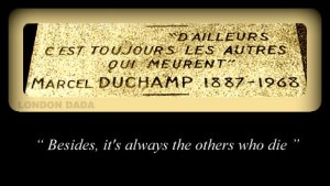 marcel duchamp headstone